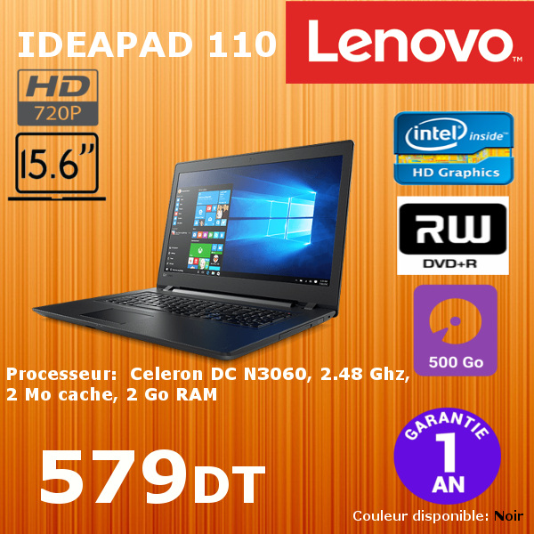PC PORTABLE LENOVO IDEAPAD 110 80T7005JFG